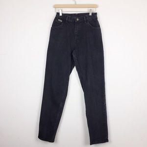 Vintage Wrangler high waisted mom jeans black